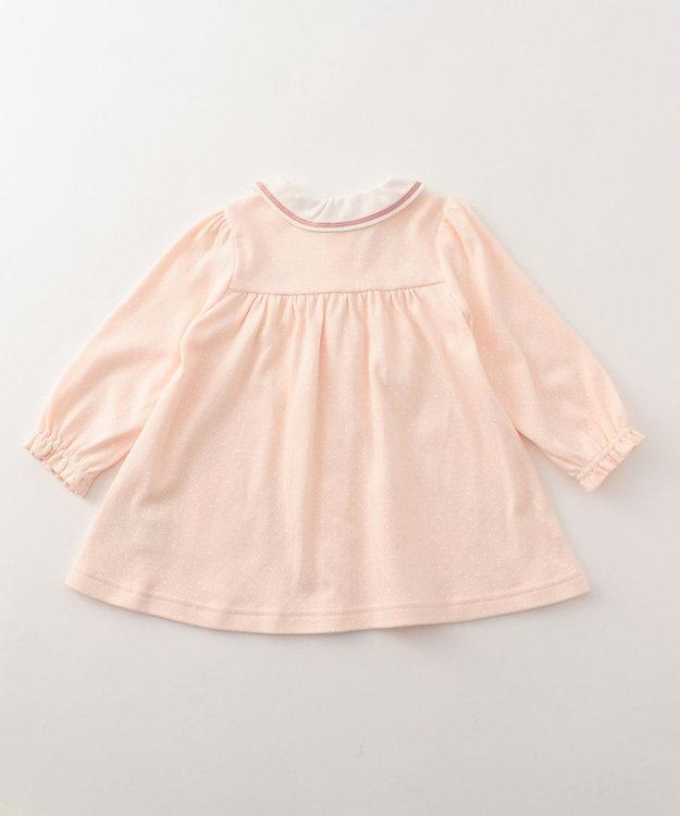 組曲 KIDS 【BABY】40/-スムースドット 長袖ワンピース