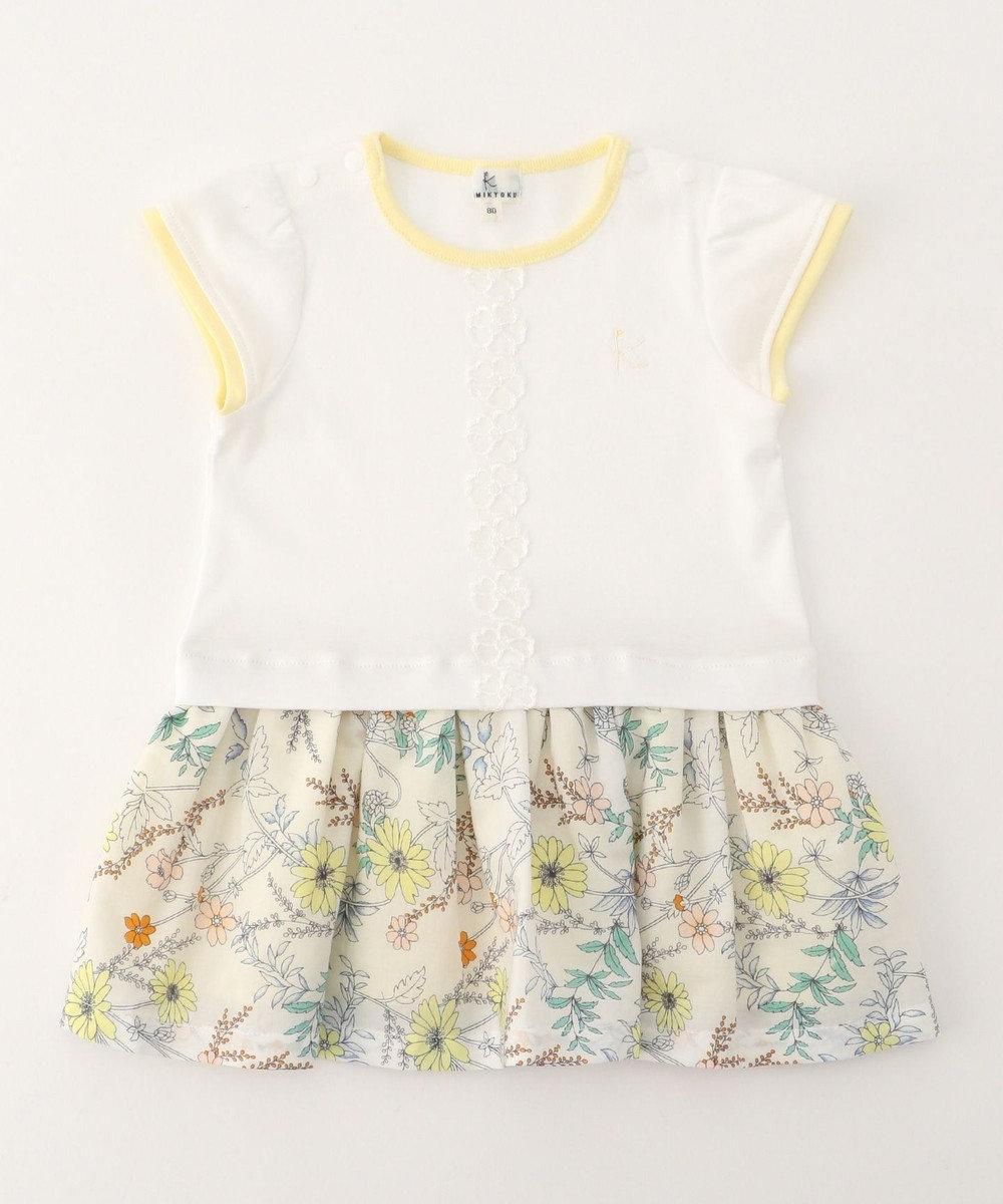 組曲 KIDS 【BABY】 ナチュレフルール ワンピース アイボリー系5