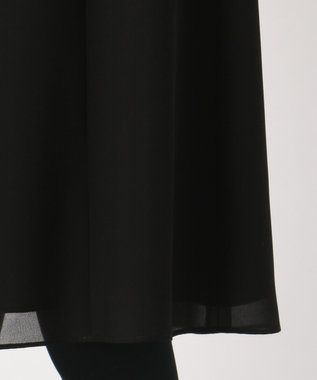 組曲 NOIR 【WEB限定】セオプラスジョーゼット ワンピース ブラック系