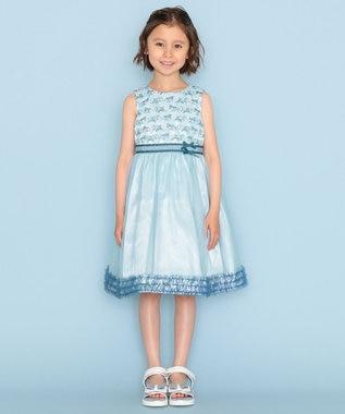 組曲 KIDS 【150-160cm】ボーダーレースドレス ワンピース ミントグリーン系7