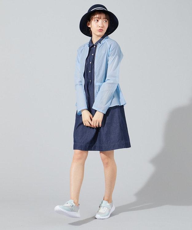 組曲 KIDS 【150-160cm】シャーリングブリーチデニムワンピース