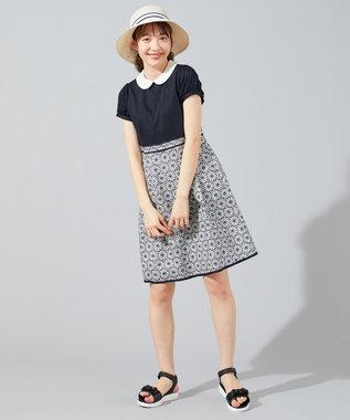 組曲 KIDS 【150-170cm】マーガレットエンブロイダリー ワンピース ネイビー系7