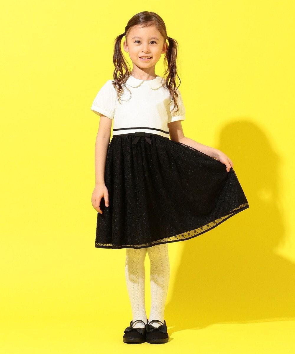 組曲 KIDS 【110-140cm】プチマーガレット ワンピース ブラック系5