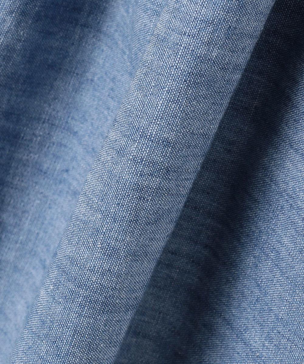 組曲 KIDS 【150-160cm】ボーダー×シャンブレー刺繍 ワンピース レッド系2