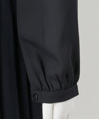 組曲 KIDS 【150-170cm】シフォンプリーツコンビ ワンピース ネイビー系