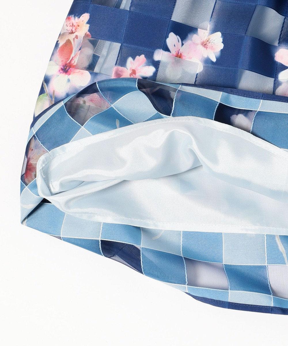 組曲 KIDS 【SCHOOL】オーガンジーペタルPt ドレス ネイビー系4