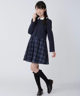 組曲 KIDS 【PURETE】シャドーチェック ワンピース ブラック系3