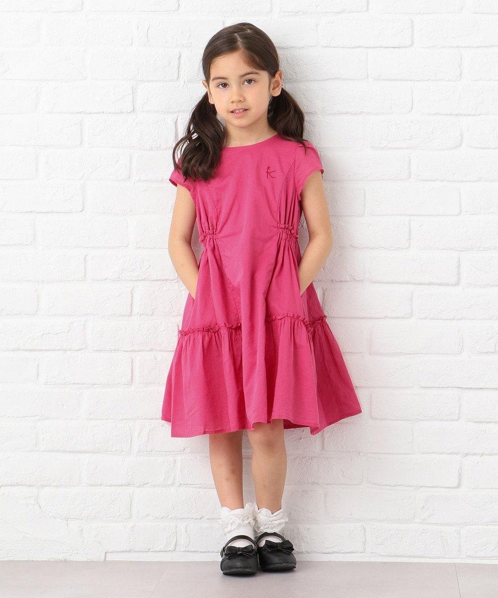 組曲 KIDS 【100~140cm】カラーワンピース ピンク系