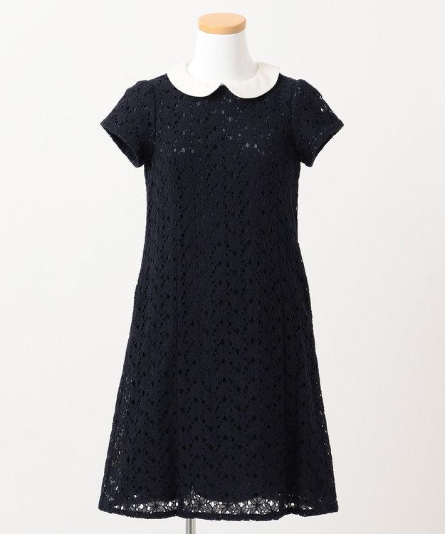 組曲 KIDS 【150~170cm】フラワーレースドレス ワンピース