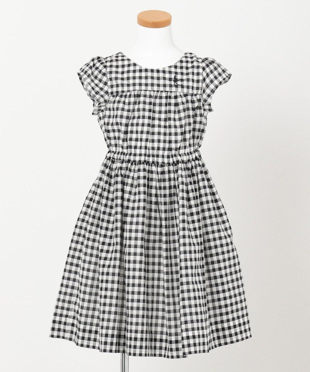 組曲 KIDS 【110~140cm】ギンガムチェックドレス ワンピース ブラック系3