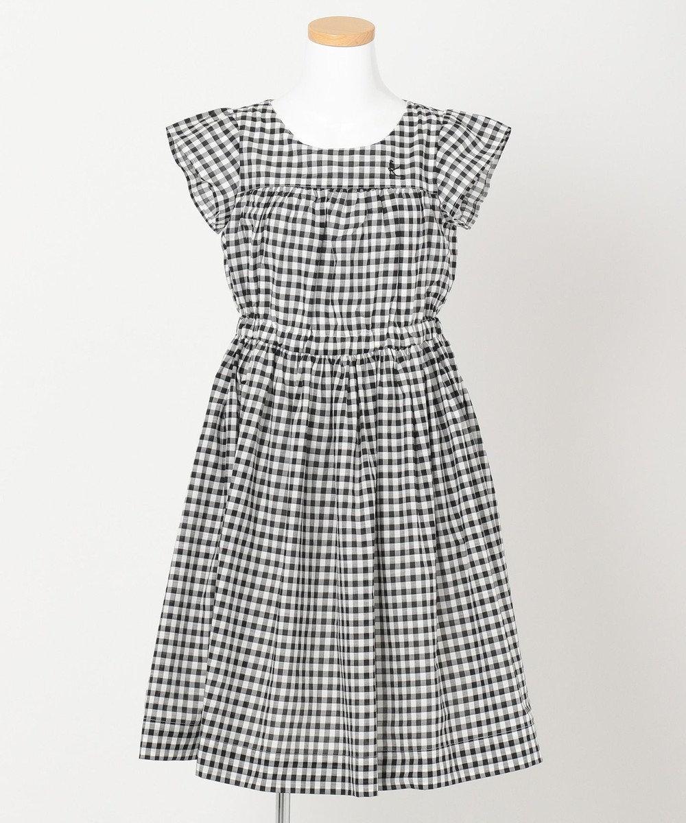 組曲 KIDS 【150~160cm】ギンガムチェックドレス ワンピース ブラック系3