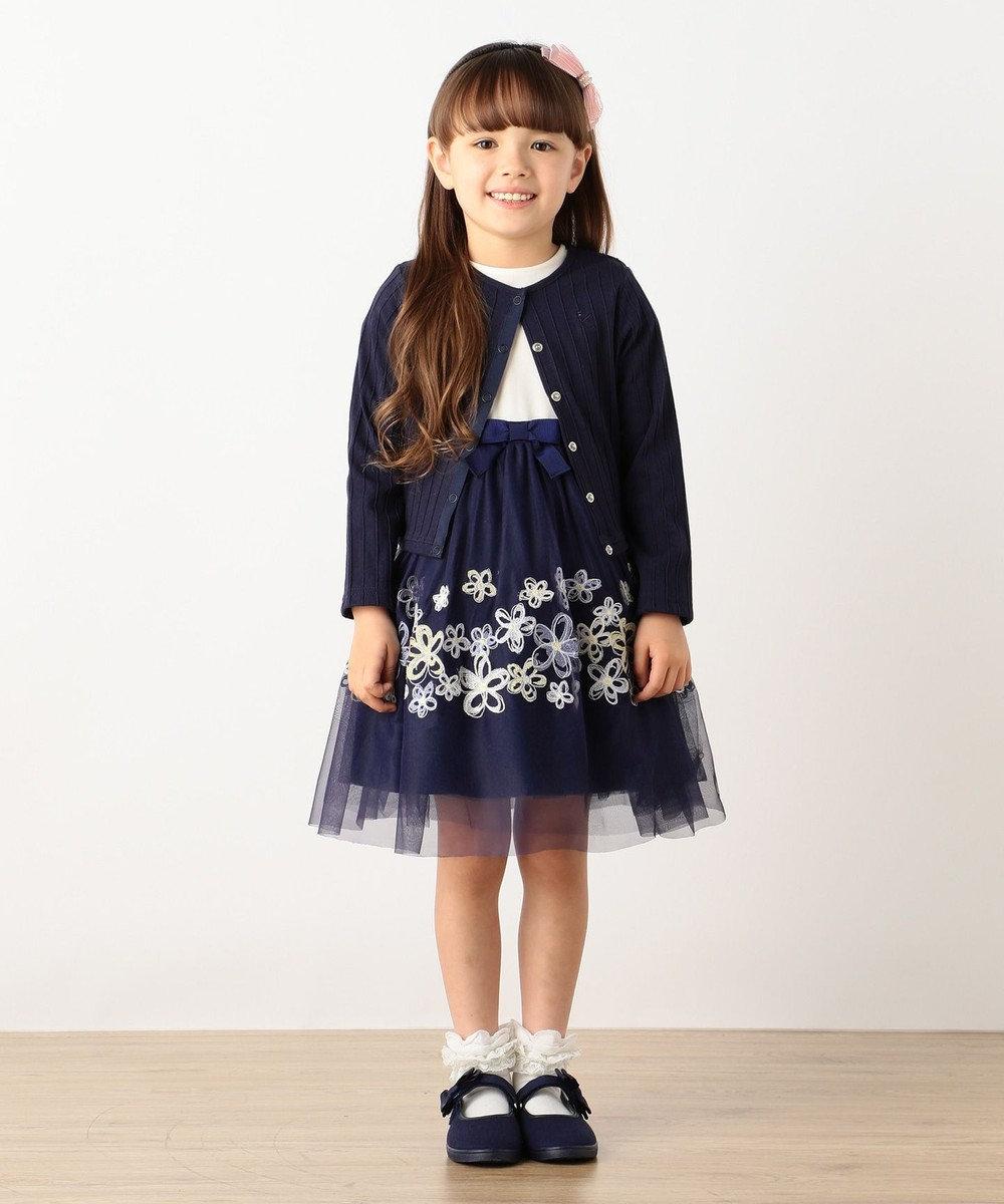 組曲 KIDS 【SCHOOL】フルールブロデュリードレス ワンピース ネイビー系5