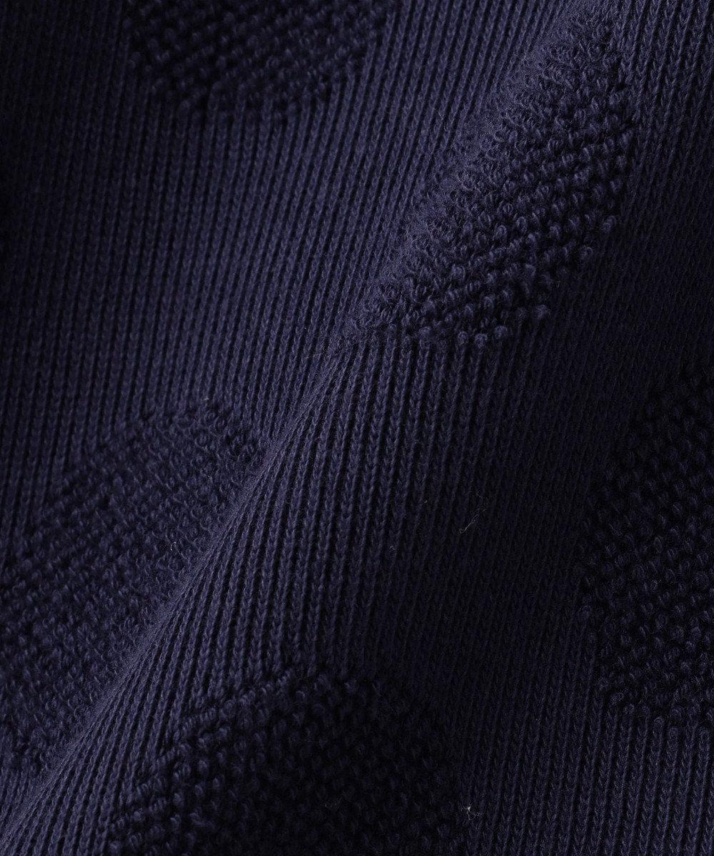 組曲 KIDS 【110~140cm】パイルドットJQ ワンピース ネイビー系