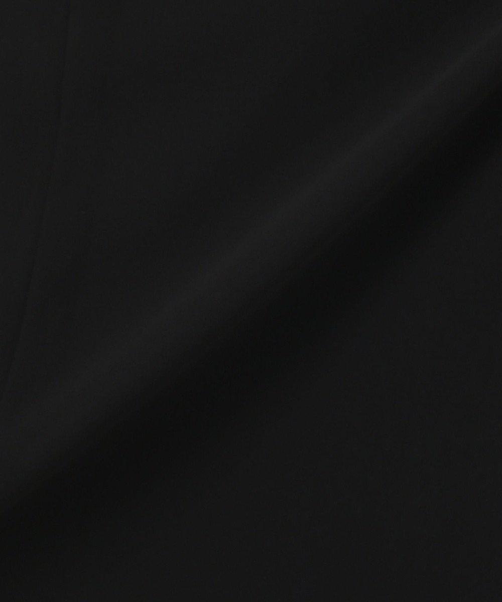 自由区 FORMAL 【洗える/着心地楽々】セオプラスエス チリメン ワンピース ブラック系