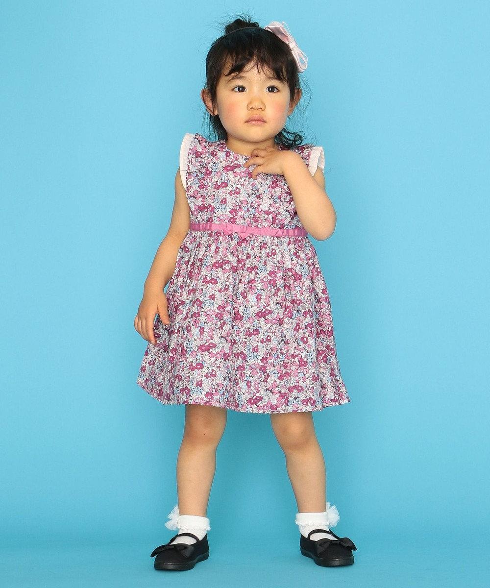 組曲 KIDS 【80-100cm】ディープフラワーワンピース ピンク系5