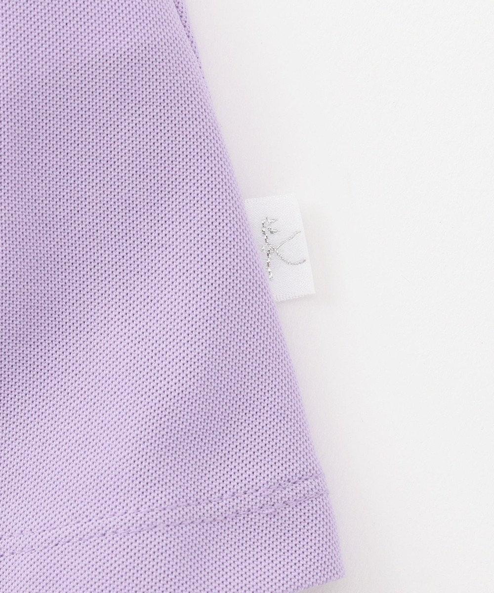 組曲 KIDS 【遮熱・UVケア/80-100cm】スカラップカラーポロ ワンピース ラベンダー系