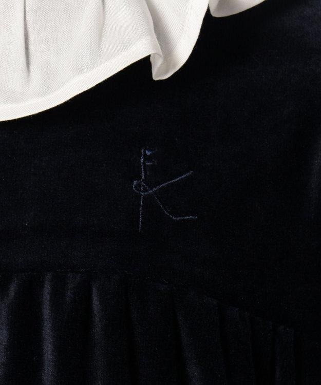 組曲 KIDS 【TODDLER】ベルベット ワンピース