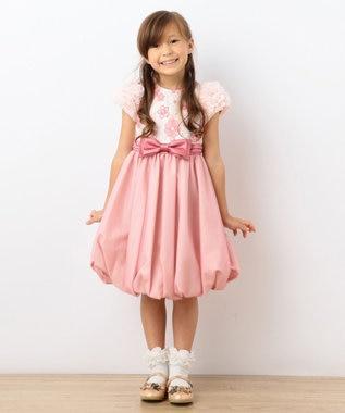 組曲 KIDS 【110~140cm】フロールダンテル ドレス ローズ系5