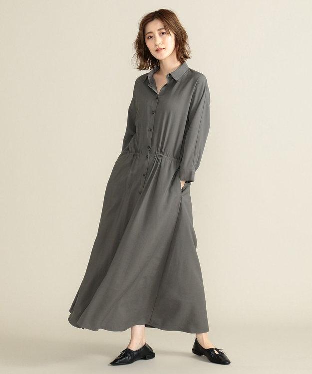 SHARE PARK LADIES 【洗える】ウエストマークシャツワンピース