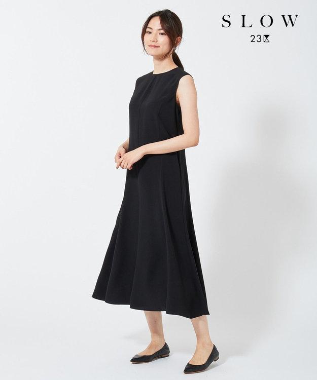 23区 【SLOW】バックサテンジョーゼット ワンピース