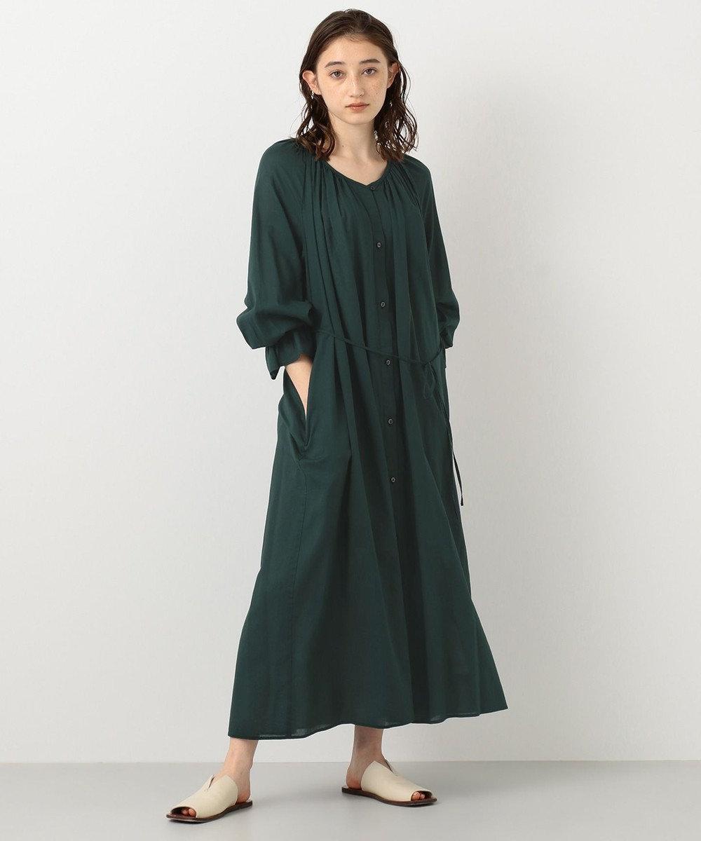 #Newans 【マガジン掲載】ハイツイストガウンワンピ―ス(番号NF35) グリーン系