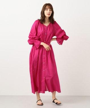 #Newans 【マガジン掲載】ハイツイストガウンワンピ―ス(番号NF35) ピンク系