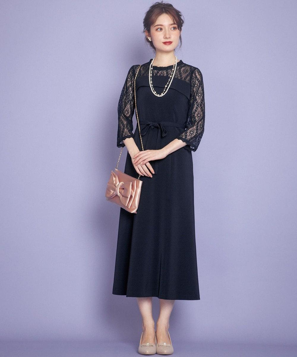 Feroux マーメイドシック ドレス ネイビー