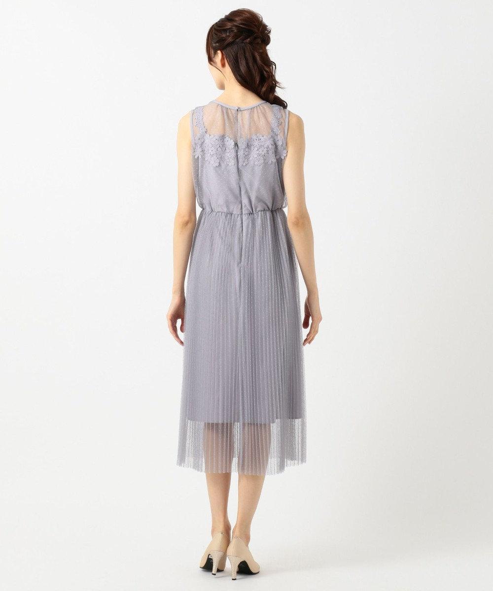 Feroux エアリーフラワープリーツ ドレス ライラック系