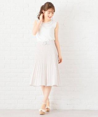 Feroux 【洗える】サマーニット ワンピース ピンク系3