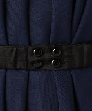 Feroux 【洗える】3WAYラッフル ドレス ネイビー系