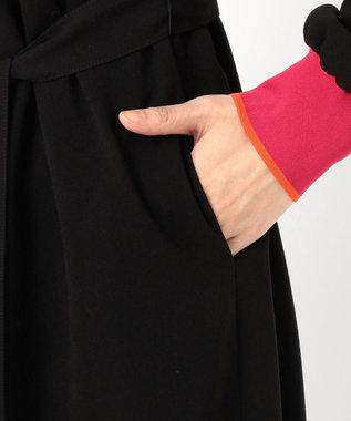 Paul Smith 【洗える】ソリッドカラー ジョーゼット ワンピース ブラック系