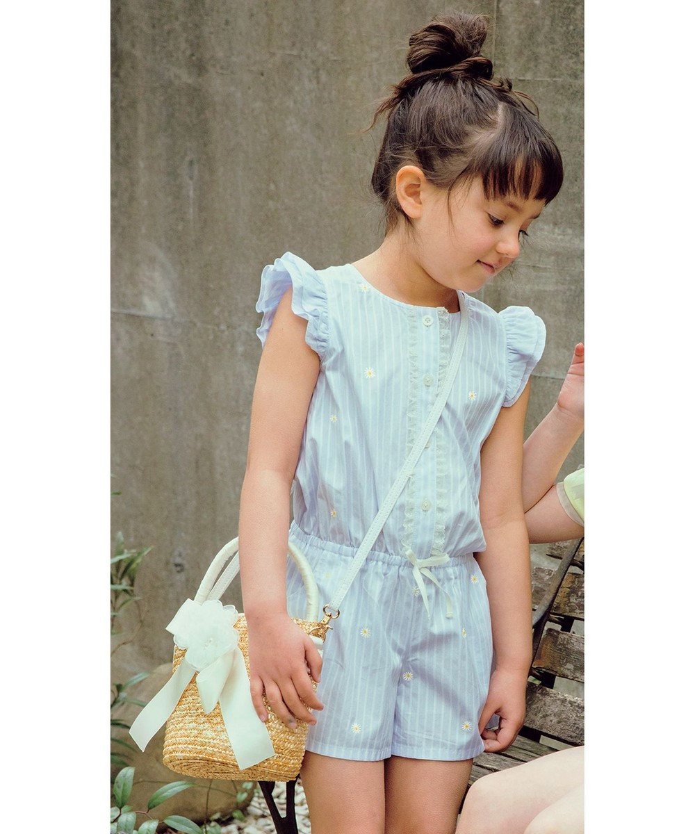 TOCCA BAMBINI 【KIDS】Flower fortunetelling オールインワン スカイブルー系1