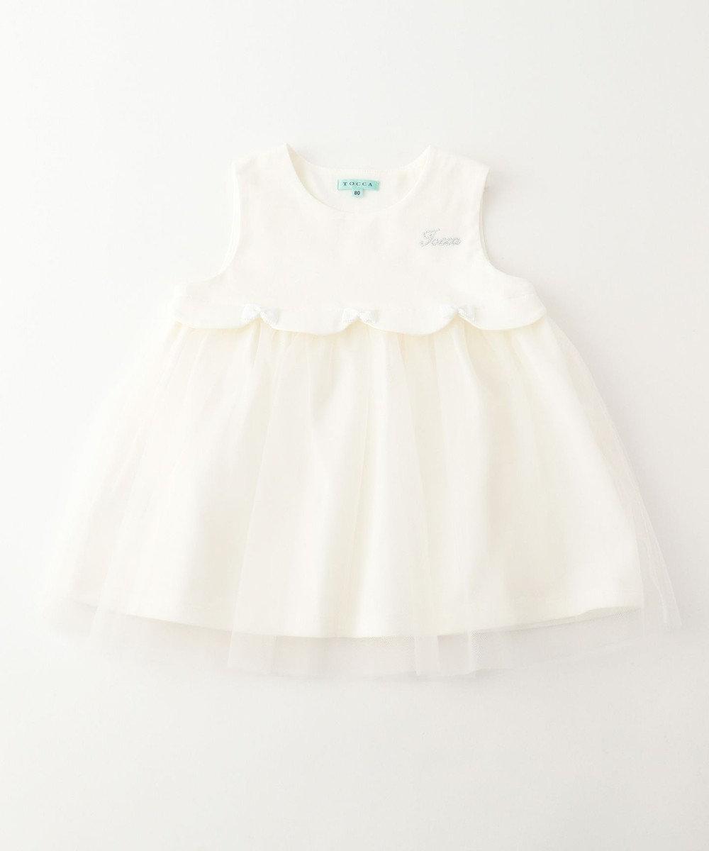 TOCCA BAMBINI 【BABY】プティリボンスカラ ワンピース アイボリー系