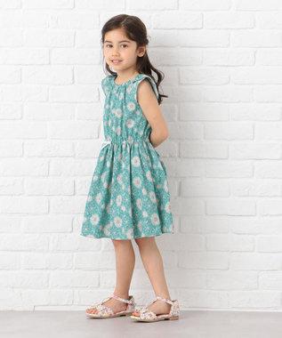 TOCCA BAMBINI 【KIDS】アーカイブプリント ワンピース ターコイズブルー系5