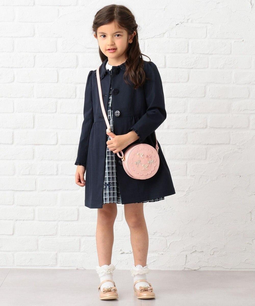 TOCCA BAMBINI 【KIDS】ファンシーシャドーチェックリボン ワンピース ネイビー系3