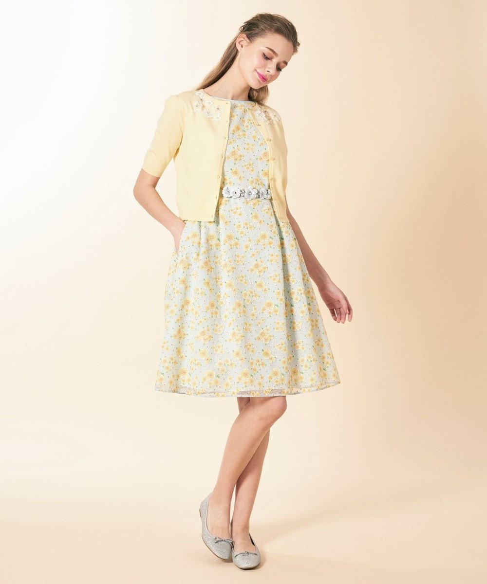 TOCCA 【洗える!】TRUMPET FLOWER ドレス サックスブルー系7