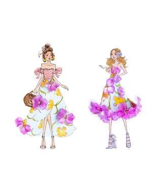 TOCCA 【洗える!】FLOWER FRIENDS ドレス ライトグリーン系7
