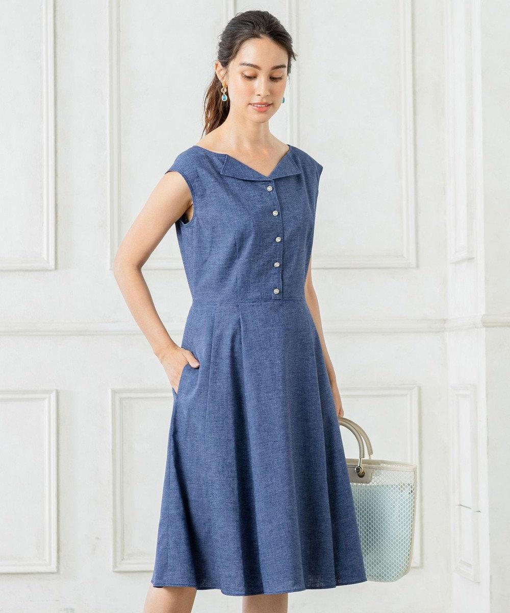 TOCCA 【洗える!】JULIETA ドレス ネイビー系