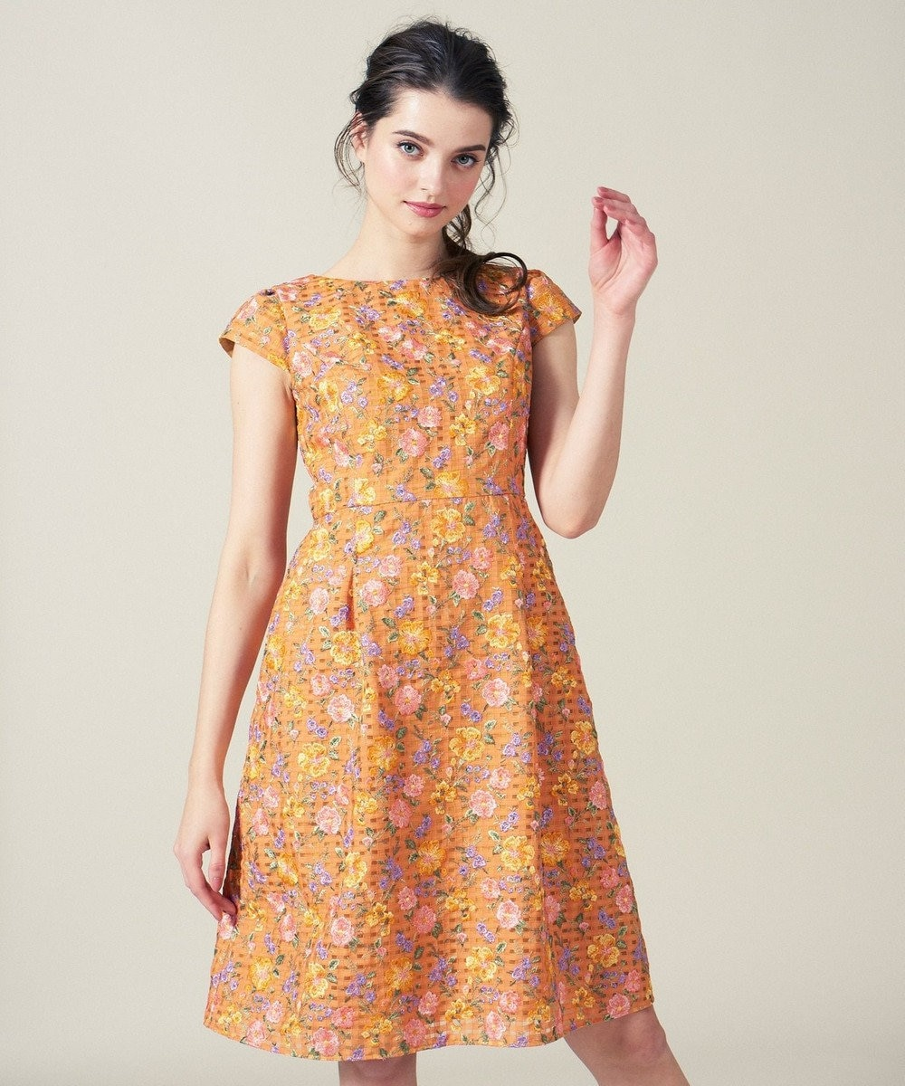 TOCCA 【洗える!】SPRING BOUQUET ドレス オレンジ系7