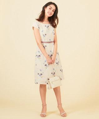 TOCCA 【25周年&洗える!】RAMBLING ROSE ドレス ベージュ系7