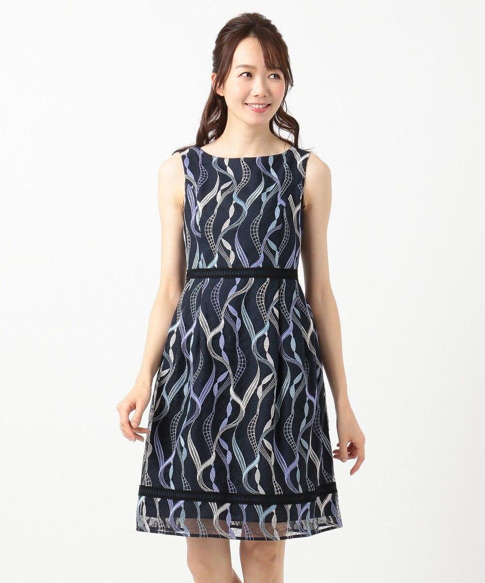 TOCCA 【洗える!】LACE ON THE WAVE ドレス ネイビー系7
