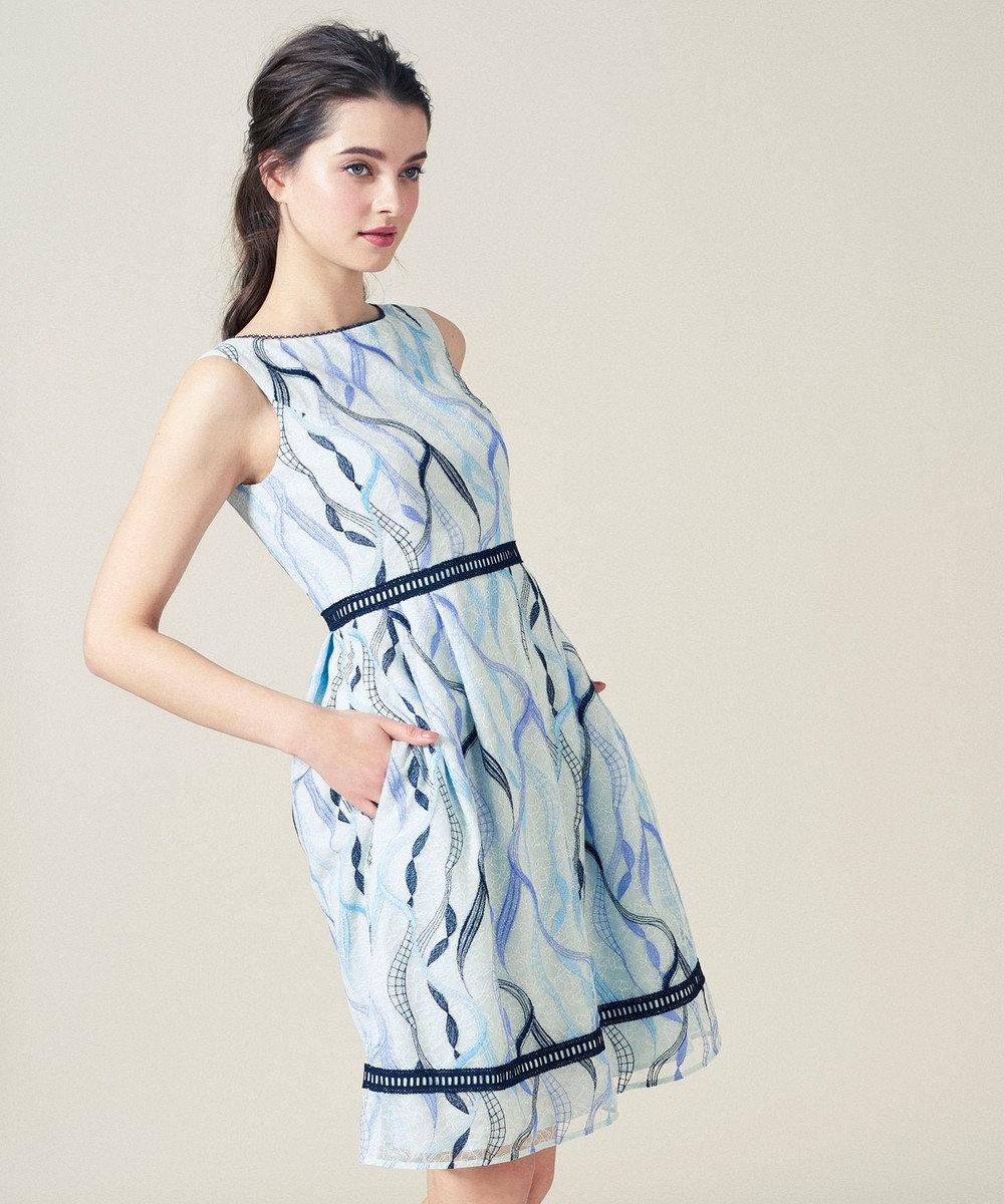 TOCCA 【洗える!】LACE ON THE WAVE ドレス アイボリー系7