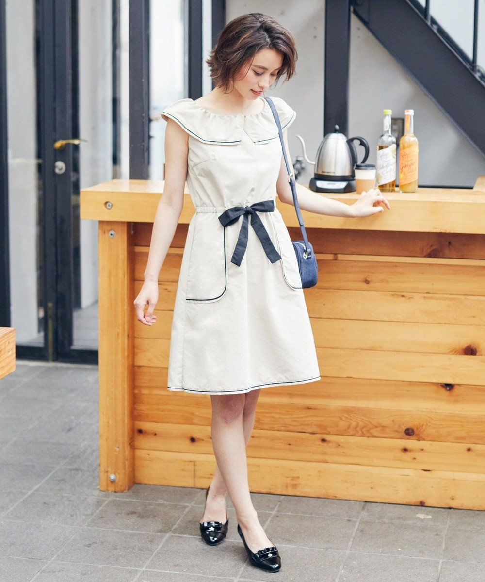 TOCCA 【洗える!】LILY BELL ドレス ベージュ系
