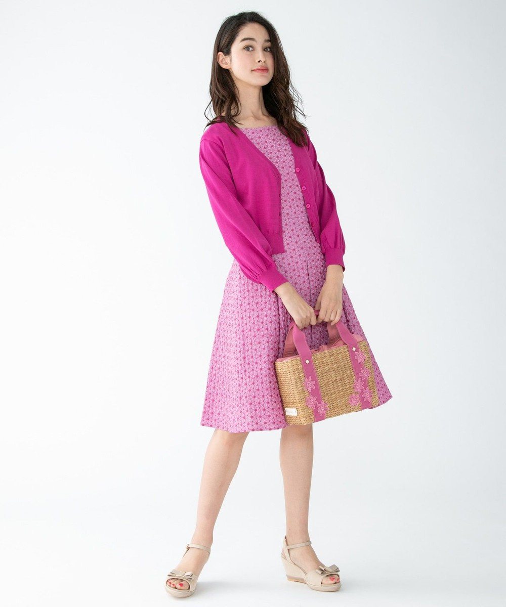 TOCCA 【WEB限定カラー有】SAINT BRIDGE フレアドレス ピンク系7