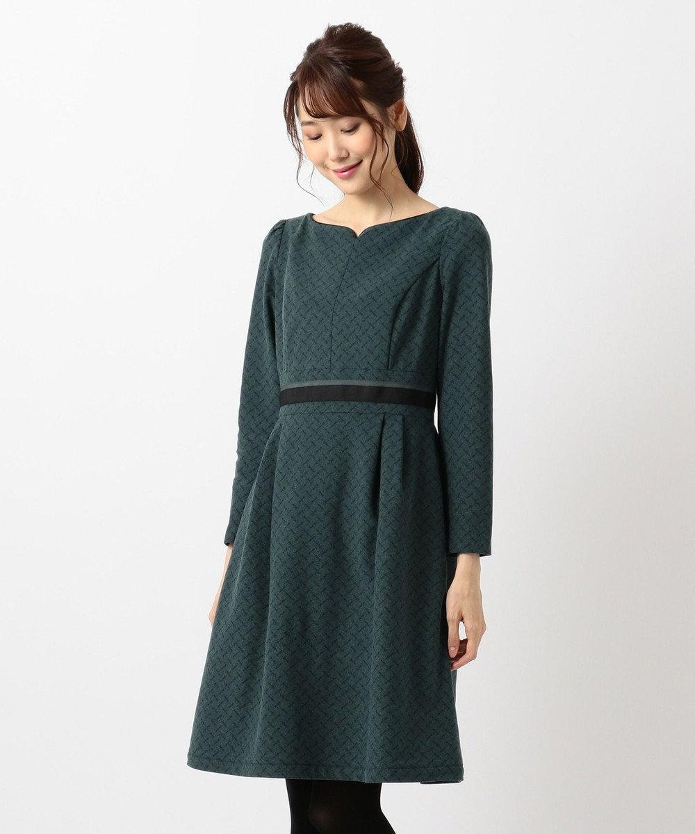TOCCA 【洗える!】RIBBON DANCE PRINT ドレス グリーン系