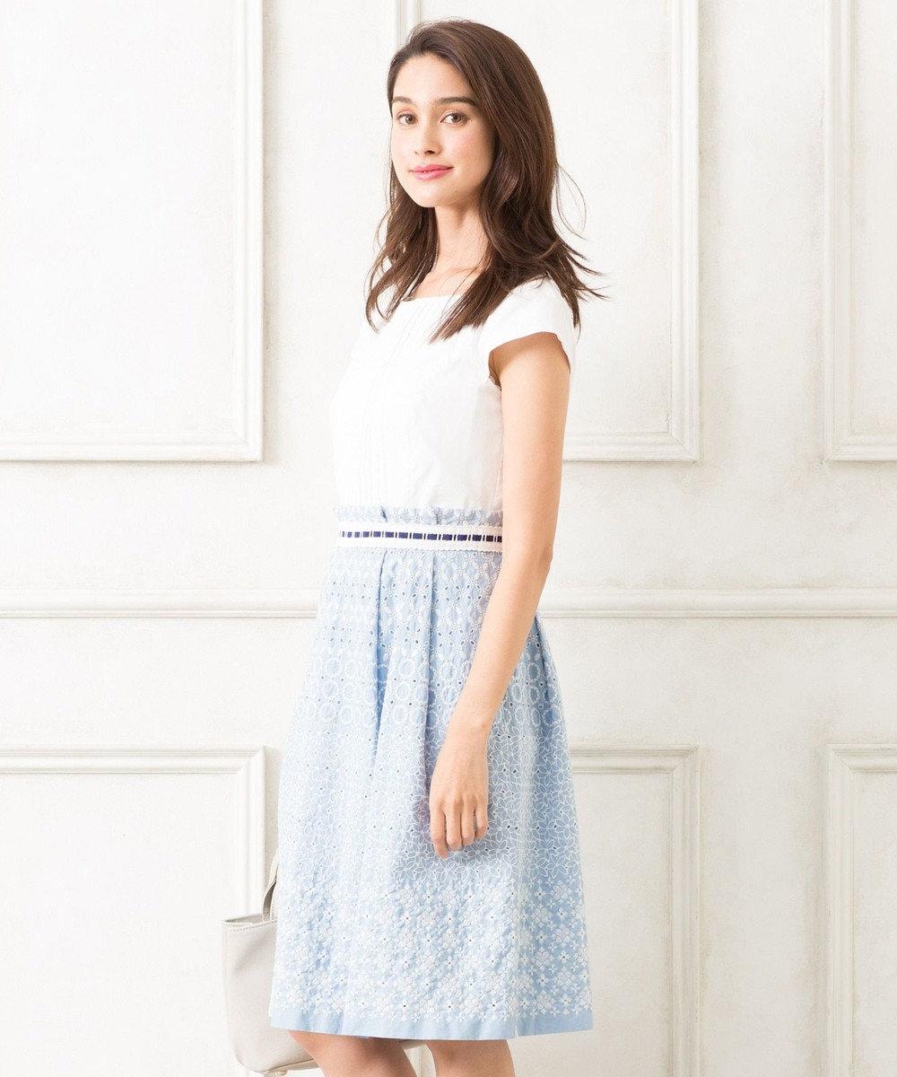 TOCCA 【洗える!】AUDREY18 ドレス スカイブルー系