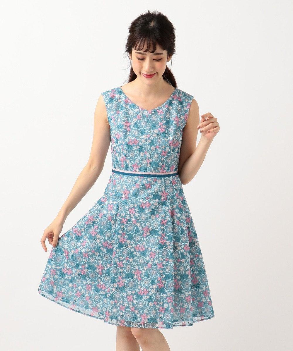 TOCCA IMPATIENS ドレス ブルー系7