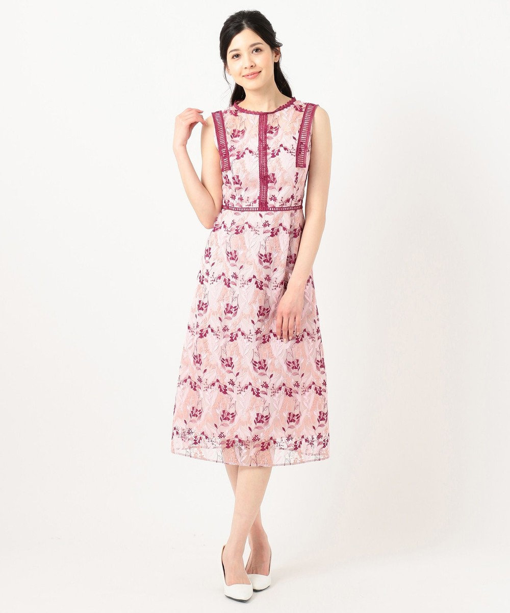 TOCCA 【TOCCA LAVENDER】Wavy Embroidery ドレス ピンク系7