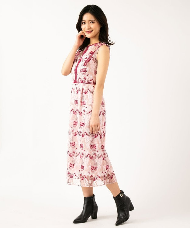 TOCCA 【TOCCA LAVENDER】Wavy Embroidery ドレス
