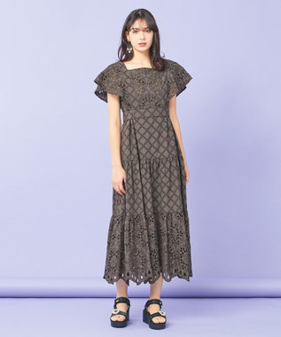 TOCCA 【TOCCA LAVENDER】Food Textile Cotton Embroidery ドレス ダークブラウン系7